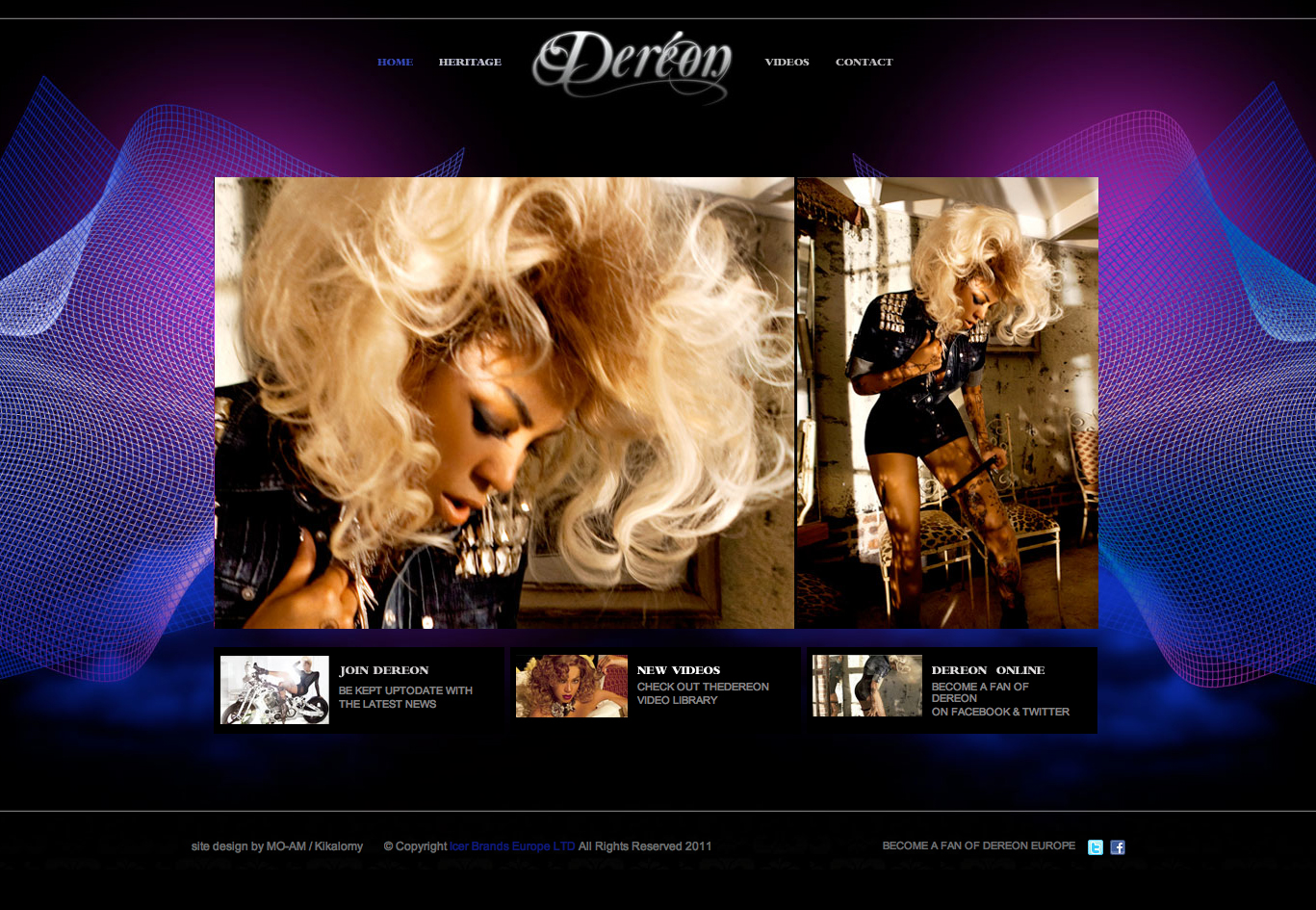 Beyonce Dereon Europe Website